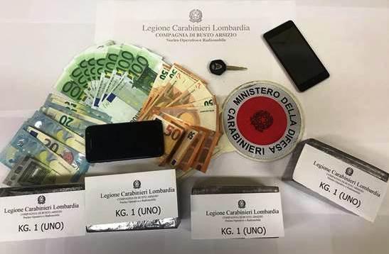 carabinieri droga busto castellanza