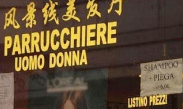 finto parrucchiere cinese