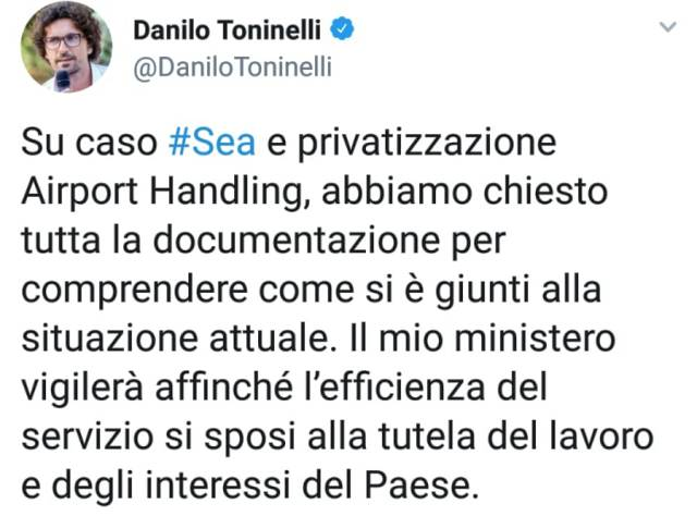 dnata  airport handling toninelli