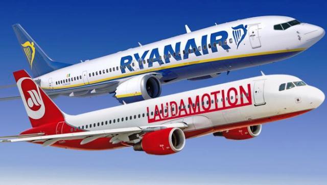 ryanair Lufthansa laudamotion