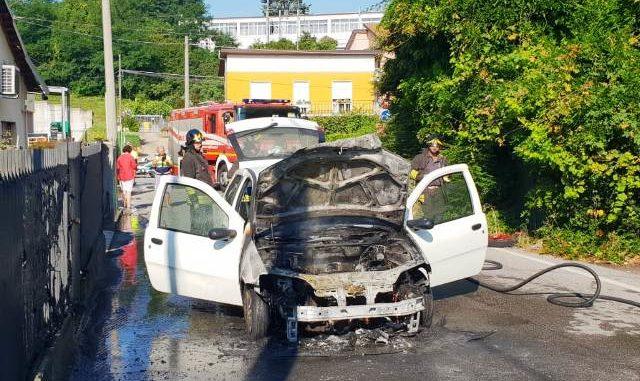 Incendio auto jerago