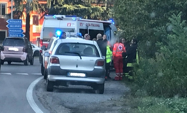 gallarate incidente morto