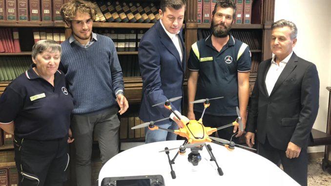 drone spaccio boschi