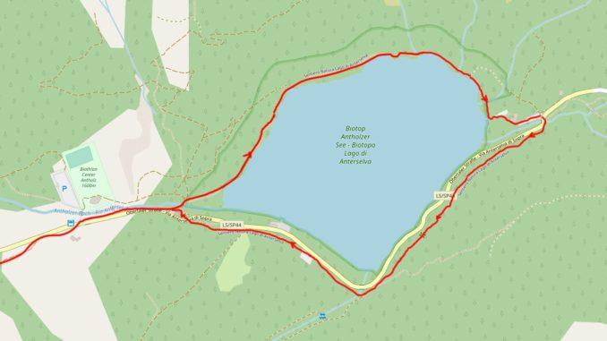 Mappa Lago di Anterselva