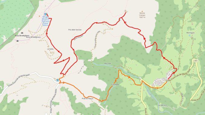 Mappa Monte Altissimo