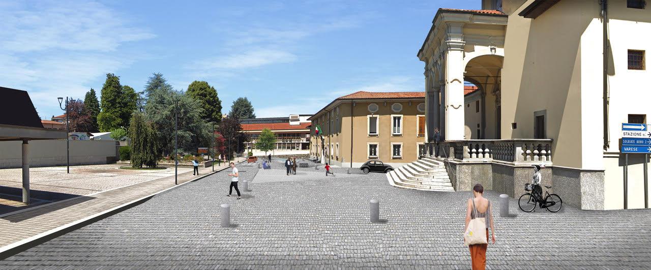 albizzate nuova piazza