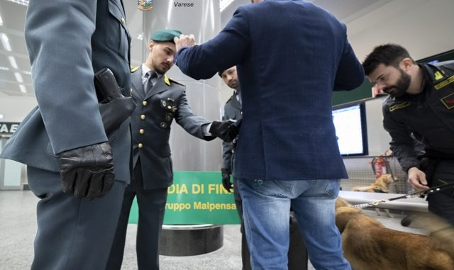 sequestro cocaina malpensa