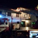 incendio oggiona tetto
