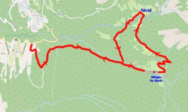 mappa Cimbergo Volano