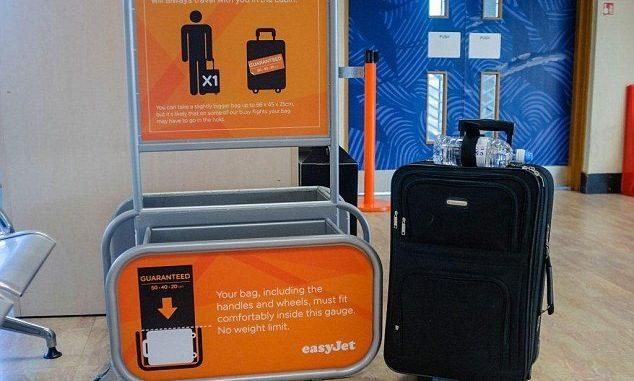 easyjet bagagli misure