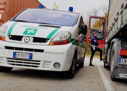 busto camionisti polizia