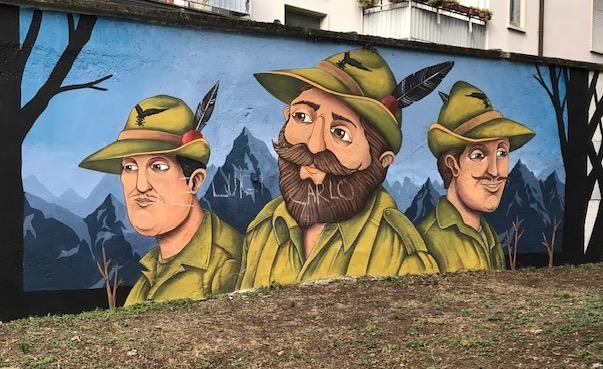 busto vandali alpini
