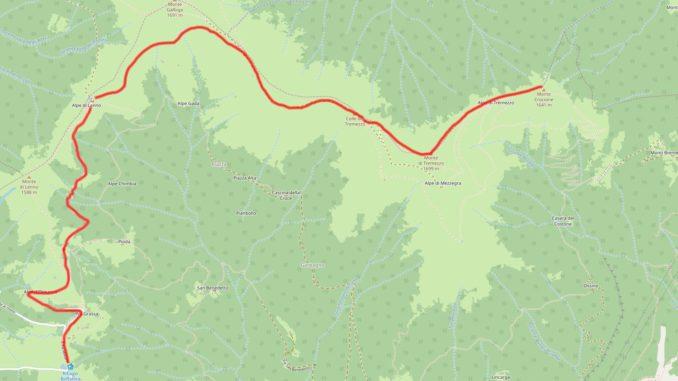 Mappa Monte Crocione