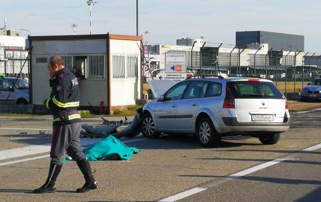 malpensa motociclista incidente