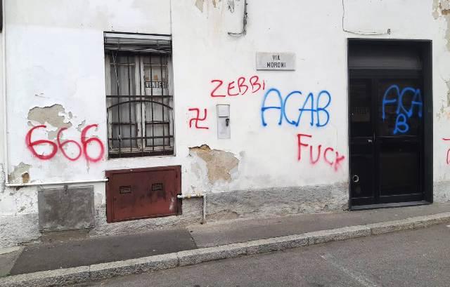 Caiello scritte vandali