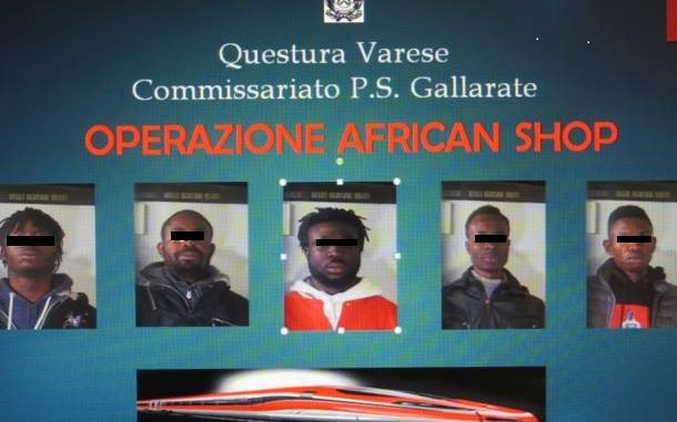 gallarate operazione african shop
