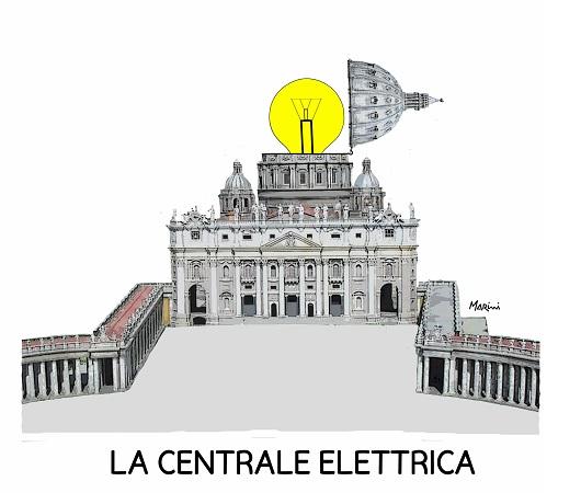 corrente elettrica papa roma marini