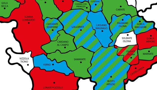 Varese Cartina.Elezioni Come Cambia La Geografia Politica Nel Sud Della Provincia Di Varese Malpensa24