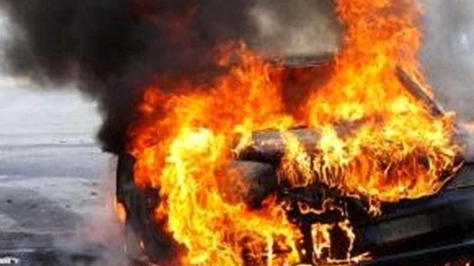 albizzate evasione incendio auto