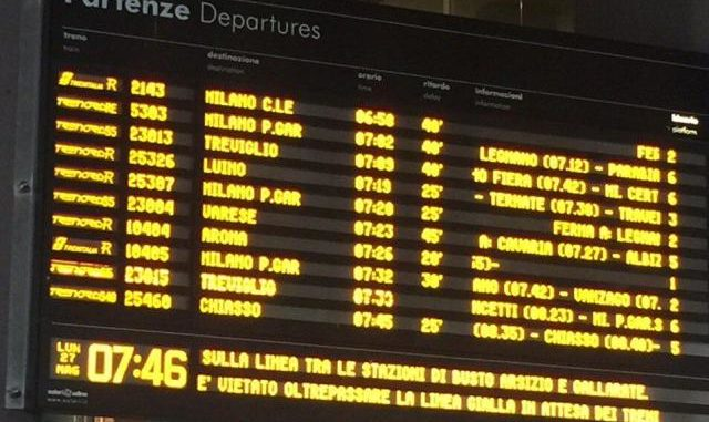 furto rame treni gallarate