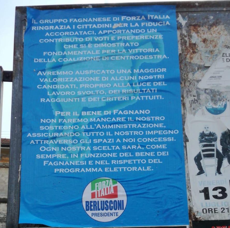 forza italia fagnano manifesti