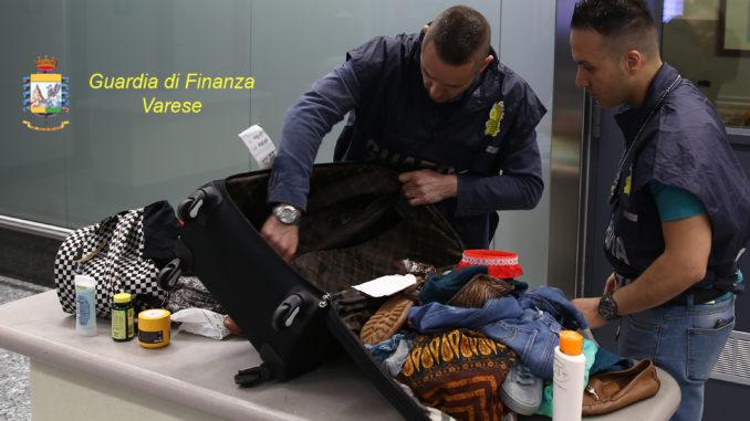 malpensa droga valigia americana