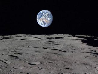 luna terra biglia blu