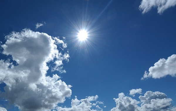 nuvole aumento caldo tempo
