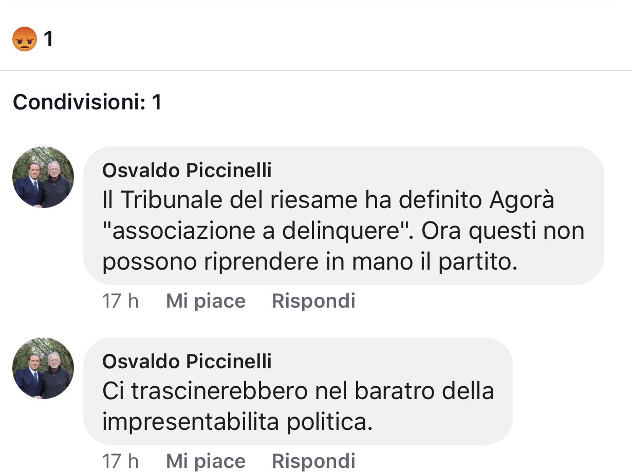 Forza Italia agorà screen