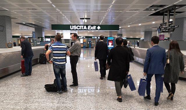 malpensa bridge attesa bagagli