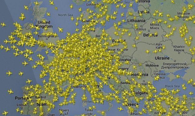 cieli europei congestione voli