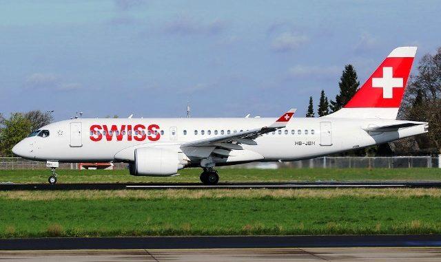 Airbus A220 Swiss Air