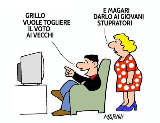 Beppe Grillo: «E se togliessimo il voto agli anziani?»
