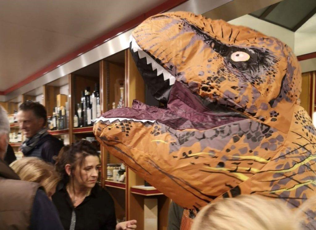 t-rex busto halloween dinosauro
