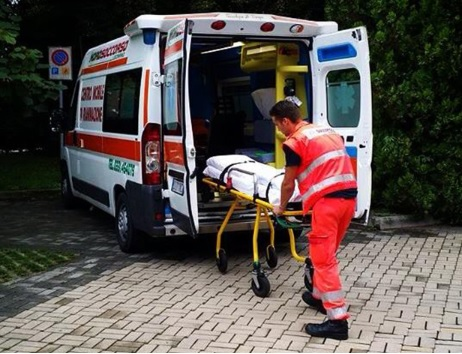 san vittore olona caduta ambulanza NordSoccorso