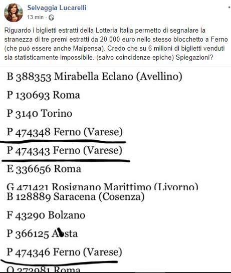 Lotteria Italia Ferno Impossibile