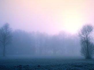 pressione aumento nebbia pianura