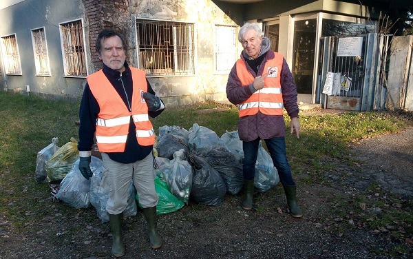 stradepulite volontari rifiuti rescaldina parabiago