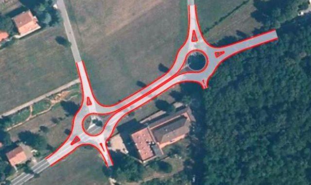 vergiate doppia rotonda provinciale