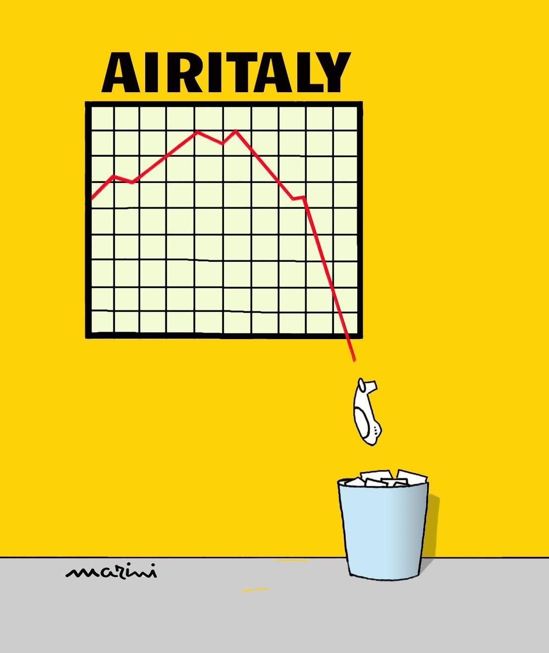 air italy vignetta marini