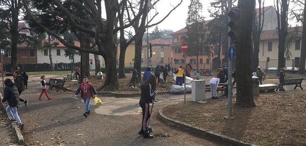 legnano pulizia giardini famiglie volontari