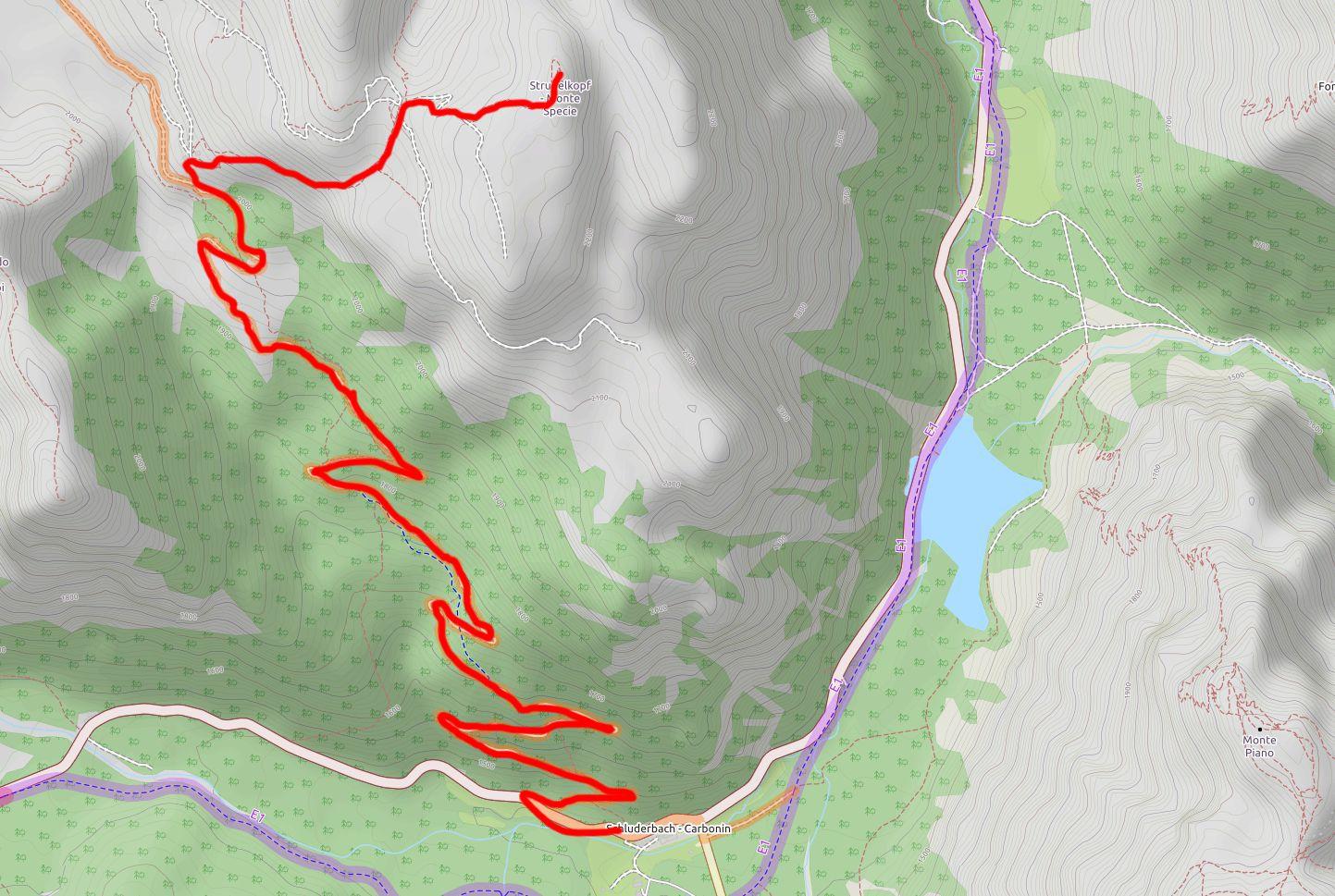 Mappa Monte Specie