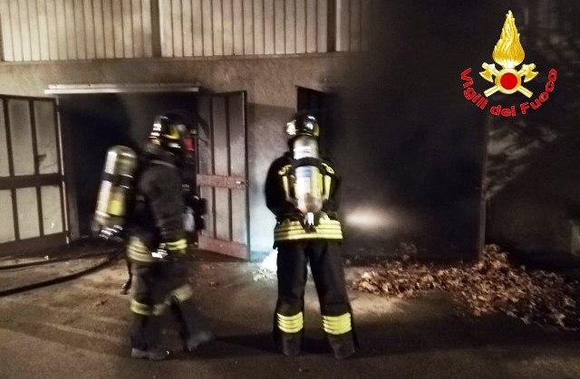 Incendio scuola Solbiate Arno