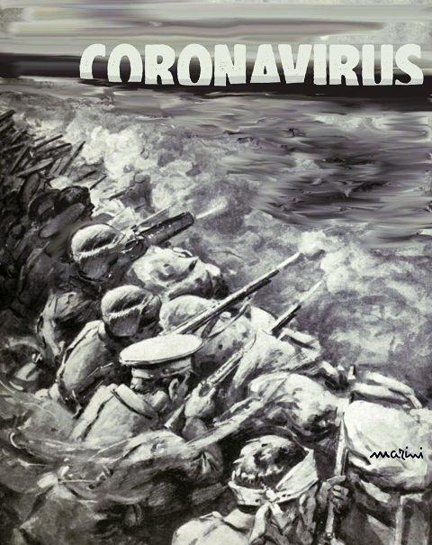 coronavirus guerra marini