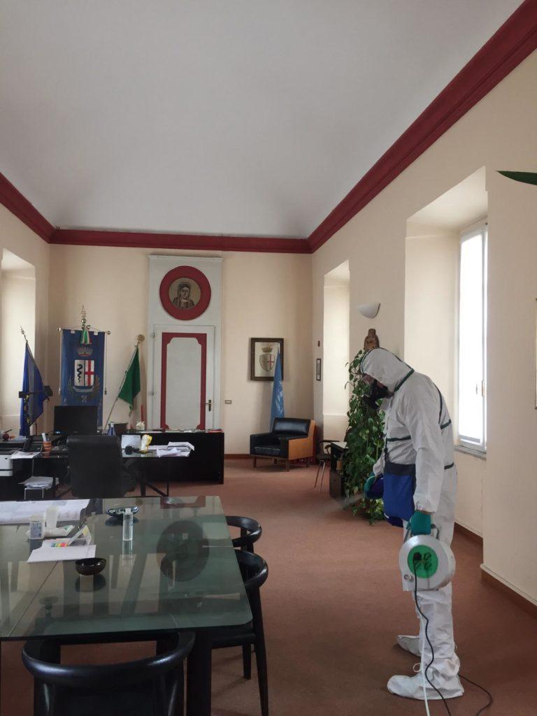coronavirus sanificazione uffici fagnano