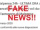 fake news cancellazione voli