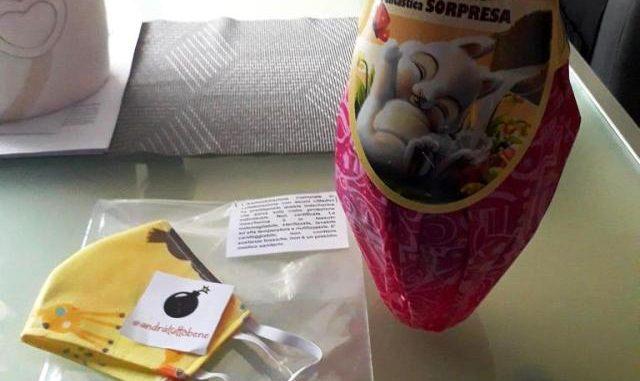 Uova pasqua mascherine sorpresa