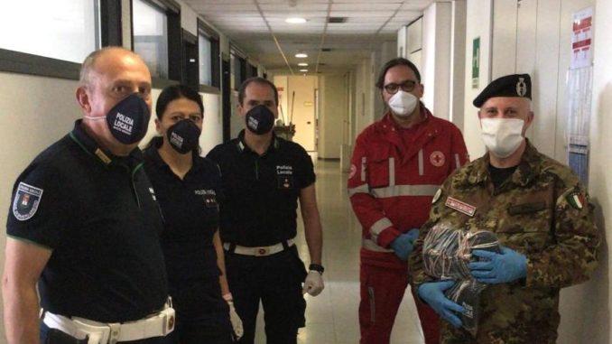 busto polizia locale cri mascherine