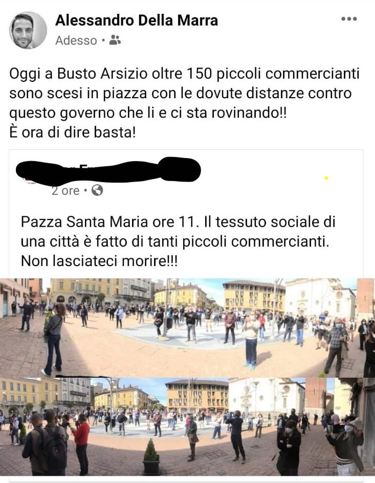 Busto flash mob della marra