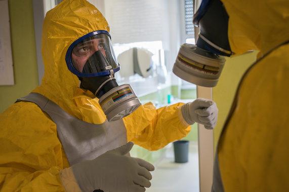 Disinfezione ospedale Busto Arsizio militari Comando Nato
